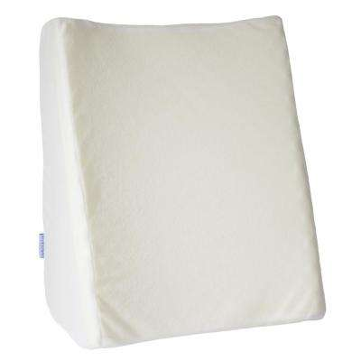 Dual Position Wedge Pillow with White Terry Cloth Zippered Cover
