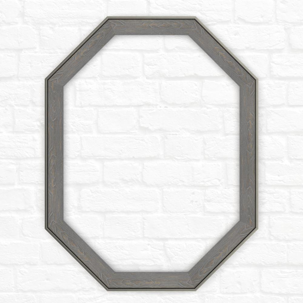 26 in. x 34 in. (M2) Octagonal Mirror Frame in Weathered
