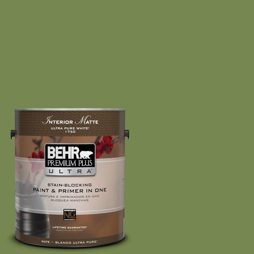 1 gal. #HDC-SM14-2 Green Suede Matte Interior Paint