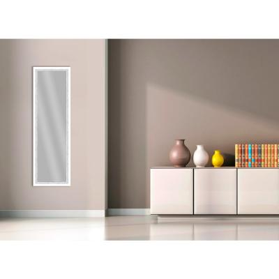 51.875 in. x 15.875 in. White Framed Mirror