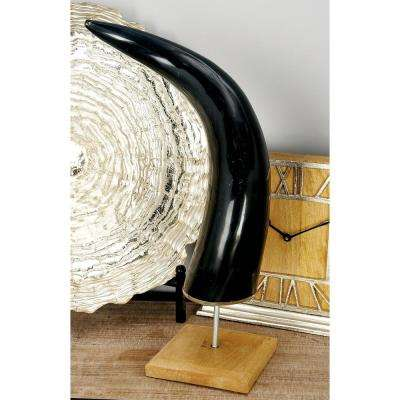 19 in. Abstract Water Buffalo Horn Sculpture