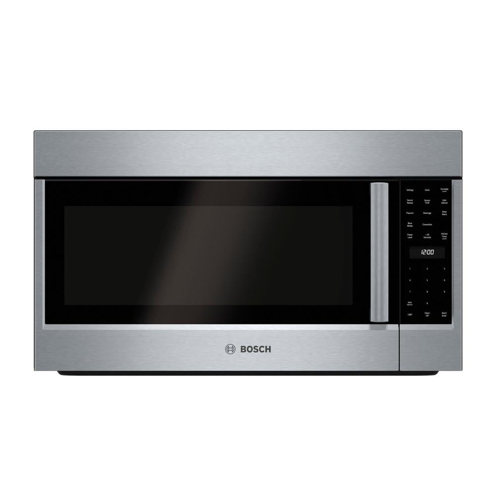 Bosch 800 Series 30 in. 1.8 cu. ft. Over the Range Convection Microwave in Stainless Steel