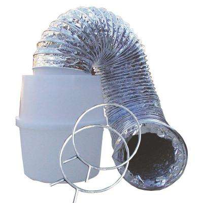 Lint Trap Kit with 4 in. x 60 in. Aluminum Silver Duct, Bucket and Clamps