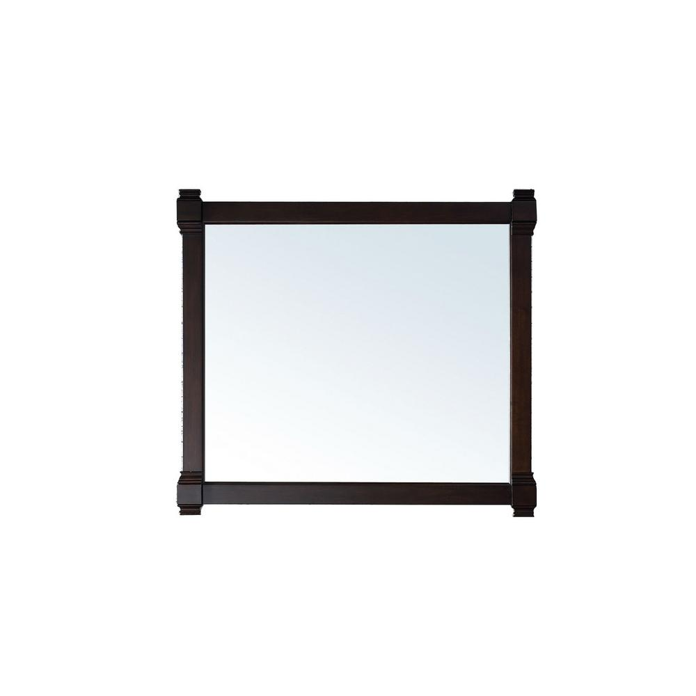 James Martin Vanities Brittany 43 in. W x 39 in. H Framed Wall Mirror in Burnished Mahogany