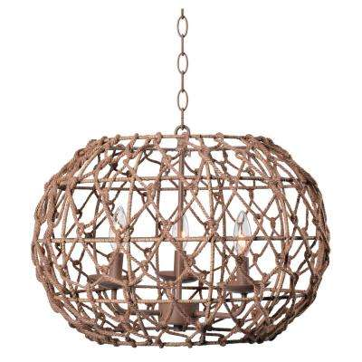 Torus 3-Light Tan Pendant