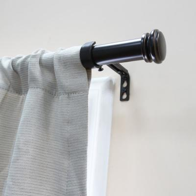 Mix and Match 72 in. L to 144 in. L Telescoping 1 in. Single Curtain Rod Kit in Oil Rubbed Bronze