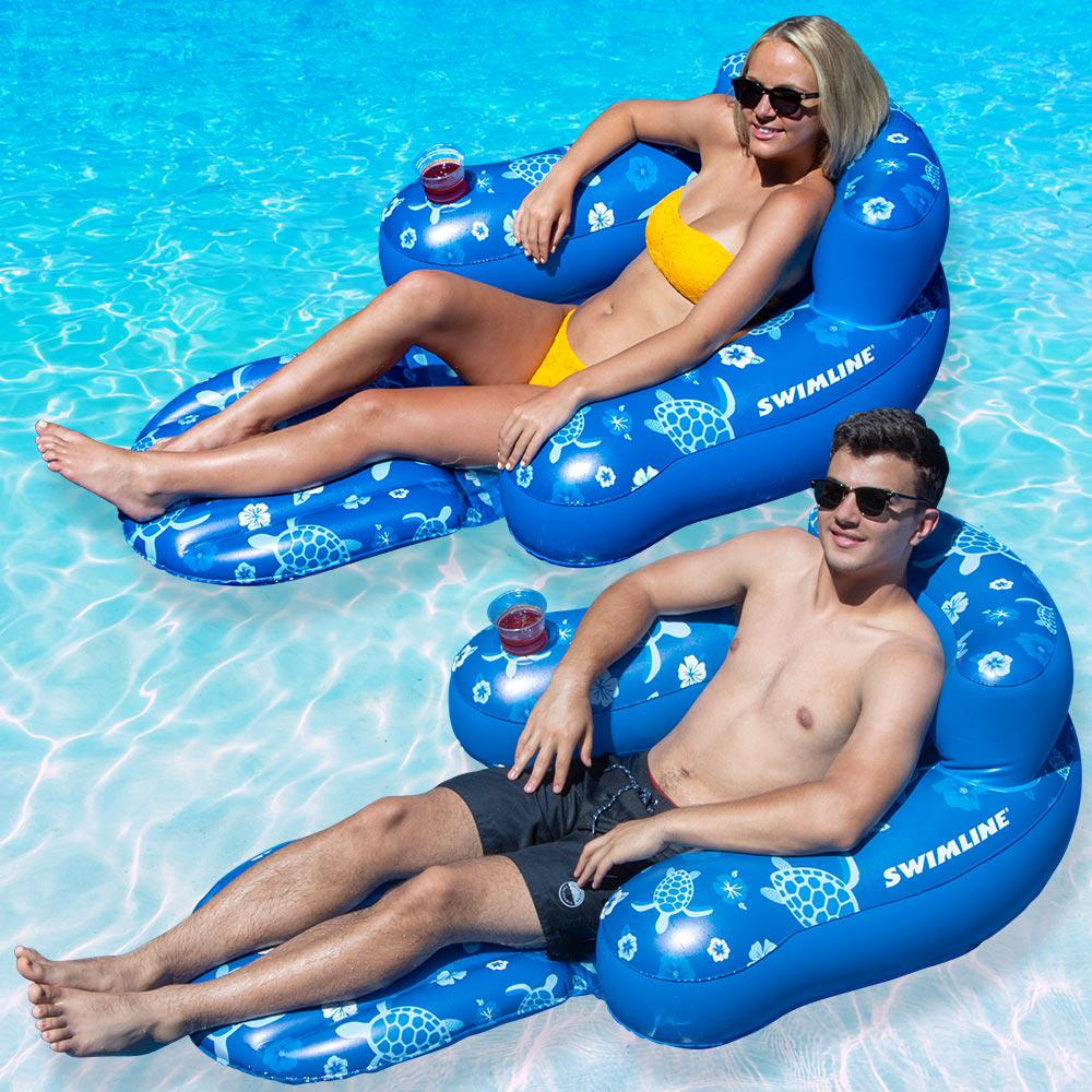 Swimline Tropical Chair Pool Float (2-Pack)