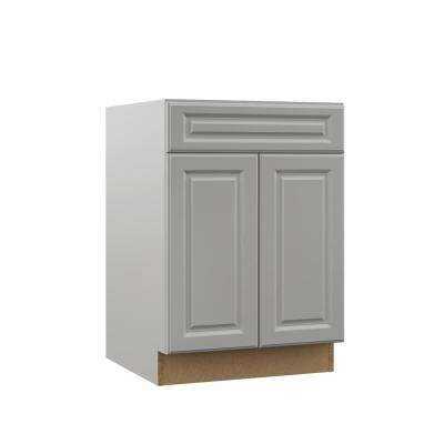 Elgin Assembled 24x34.5x23.75 in. Base Kitchen Cabinet in Heron Gray