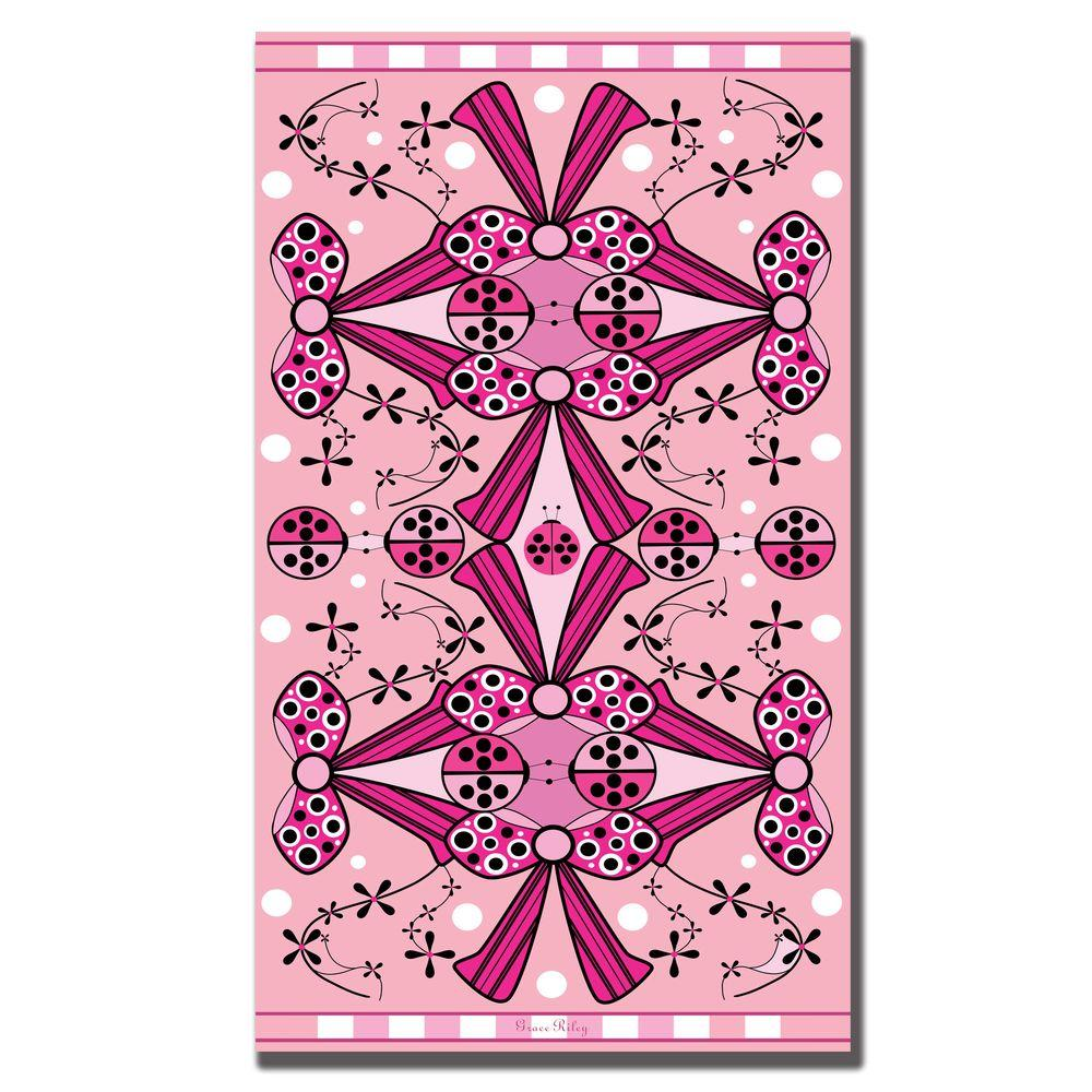 null 18 in. x 32 in. Ladybugs and Bows Canvas Art