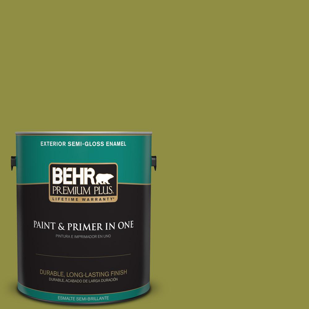 1 gal. #PPU9-03 Retro Avocado Semi-Gloss Enamel Exterior Paint