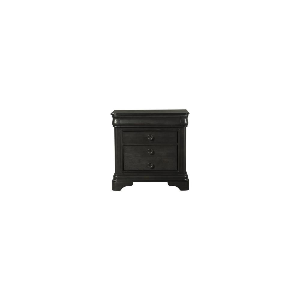Conley Charcoal 2-Drawer Nightstand