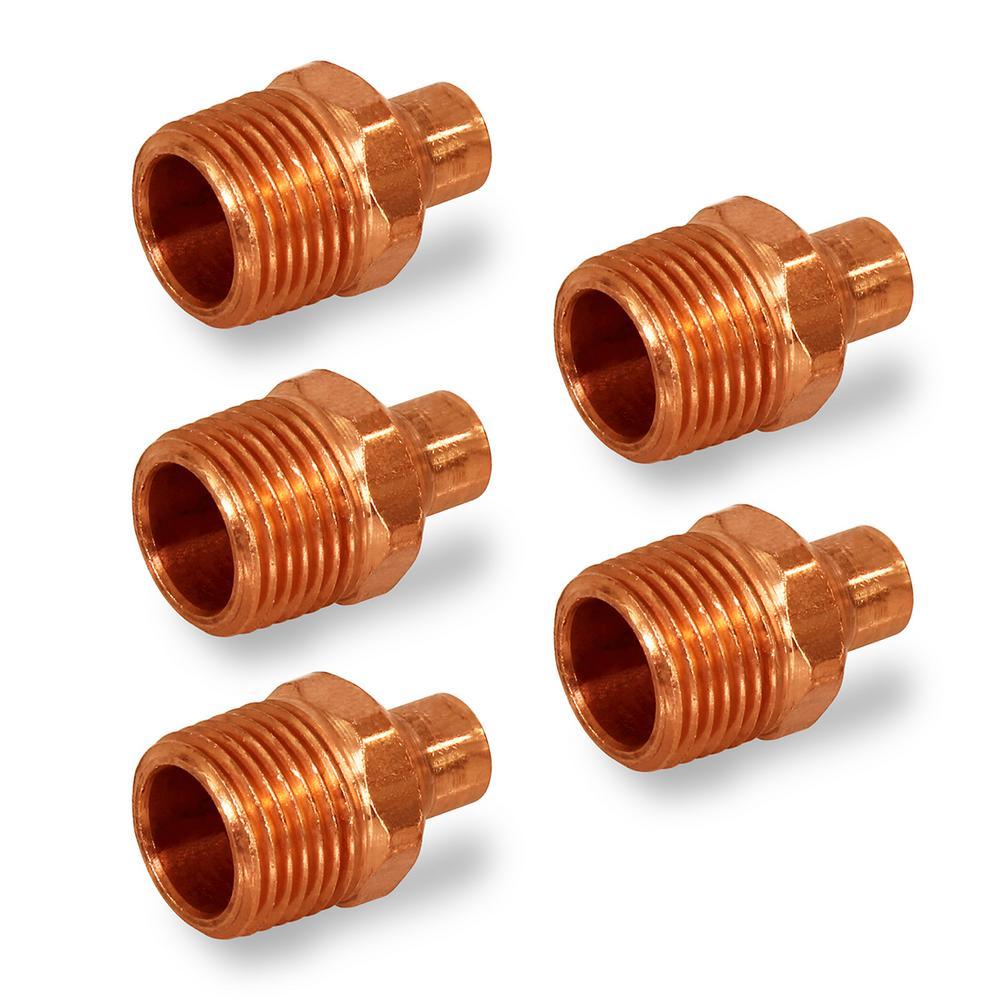 """4/"""" Wrot Copper Sweat Male Adapter"""
