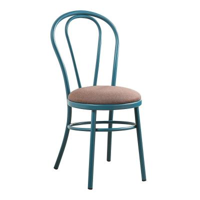 Amelia 2 Pcs.Teal Fabric Side Chair
