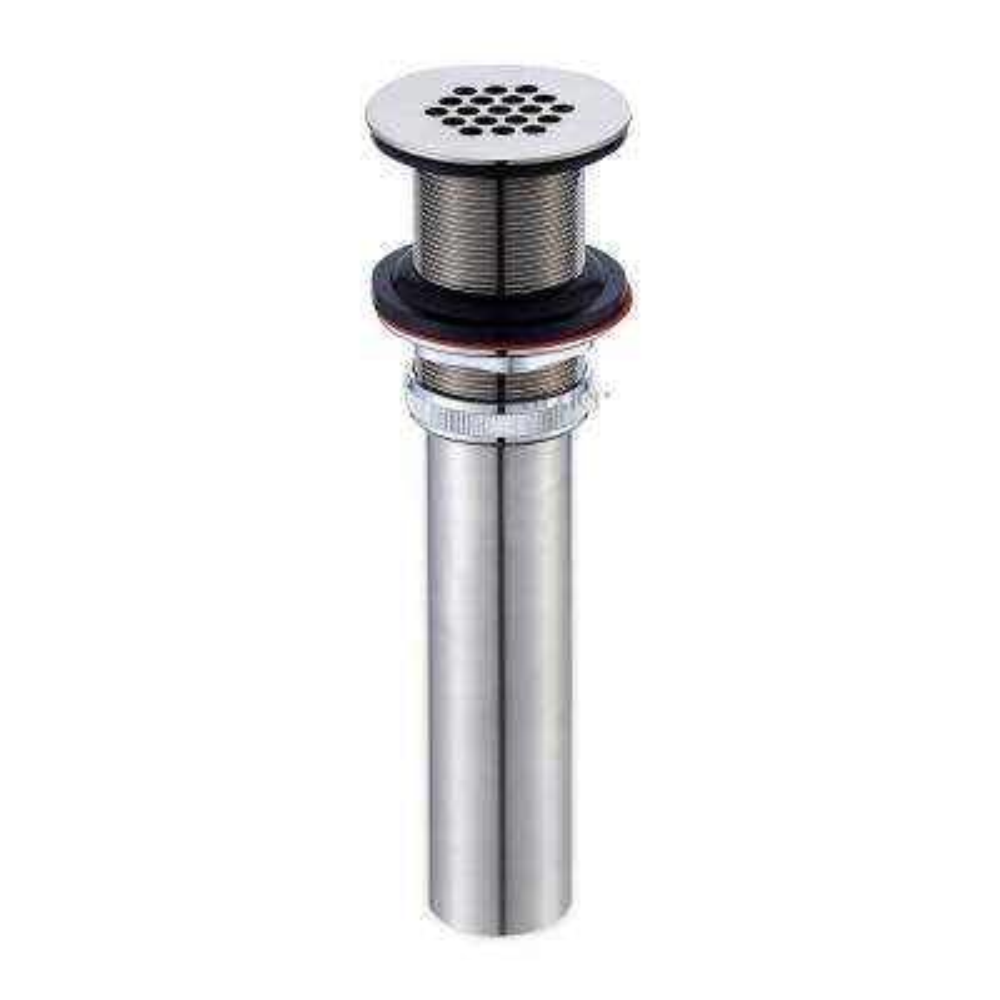 1-1/2 in. Bathroom Faucet Vessel Vanity Sink Grid Drain Stopper Strainer without Overflow Brushed Nickel