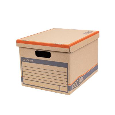 Heavy-Duty Document Box with Handles 10-each (15 in. L x 10 in. W x 12 in. D)
