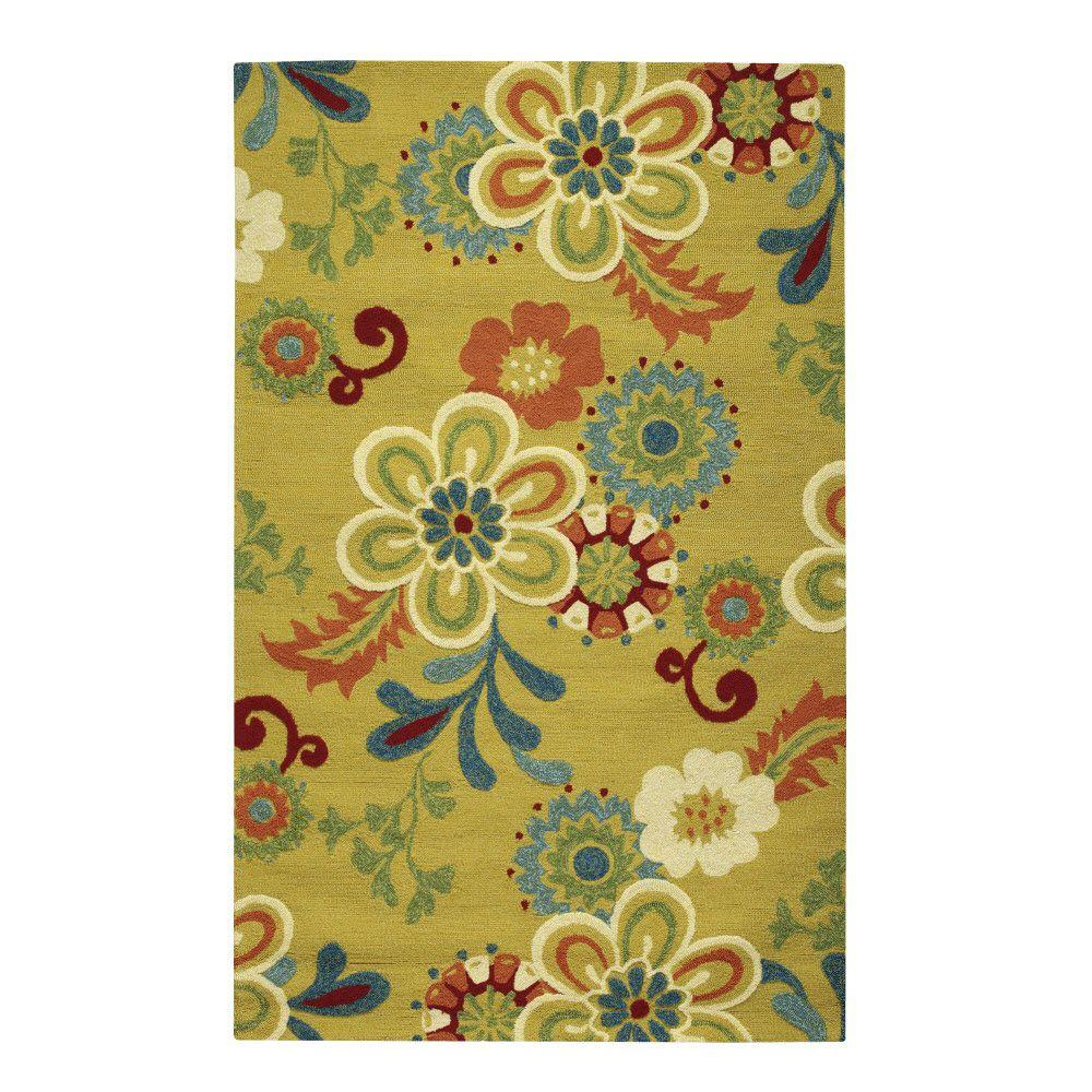 Tilly Yellow 3 ft. x 5 ft. Area Rug