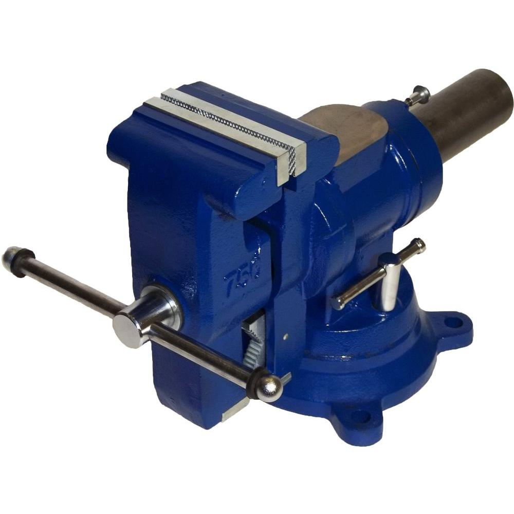 Yost 5 In Heavy Duty Multi Jaw Rotating Combination Pipe And Bench Vise 750 Di The Home Depot