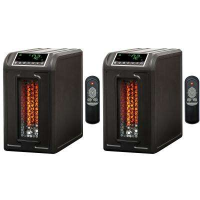 3 Element 1500-Watt Quartz Electric Infrared Portable Space Heaters (Pair)