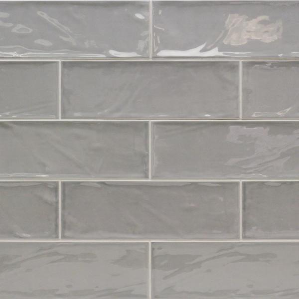 Pier Gray 4 in. x 12 in. 6 mm Polished Ceramic Subway Wall Tile (33-Piece) (10.76 sq. ft./Box)