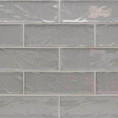 Pier Gray 4 in. x 12 in. 6 mm Polished Ceramic Subway Wall Tile (33 piece 10.76 sq. ft. / Box)