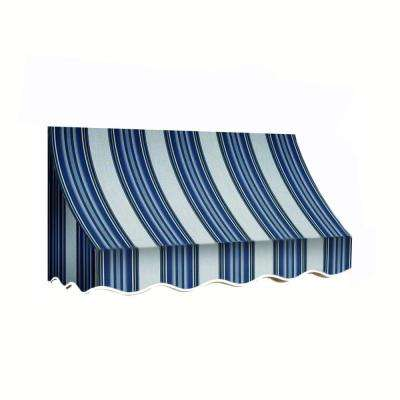 8 ft. Nantucket Window/Entry Awning (44 in. H x 36 in. D) in Navy/Gray/White Stripe