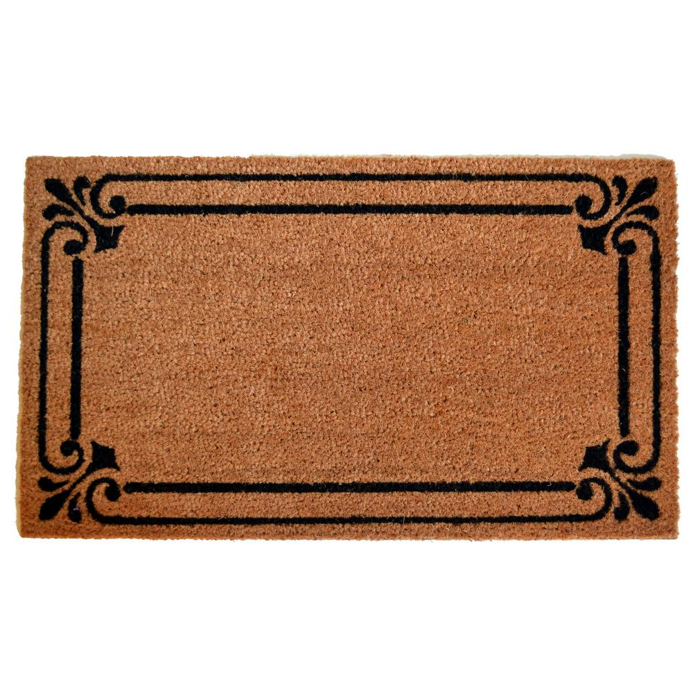 Imports Decor Pvc Backed Coir Mat Frame Border 30 In X 18 In