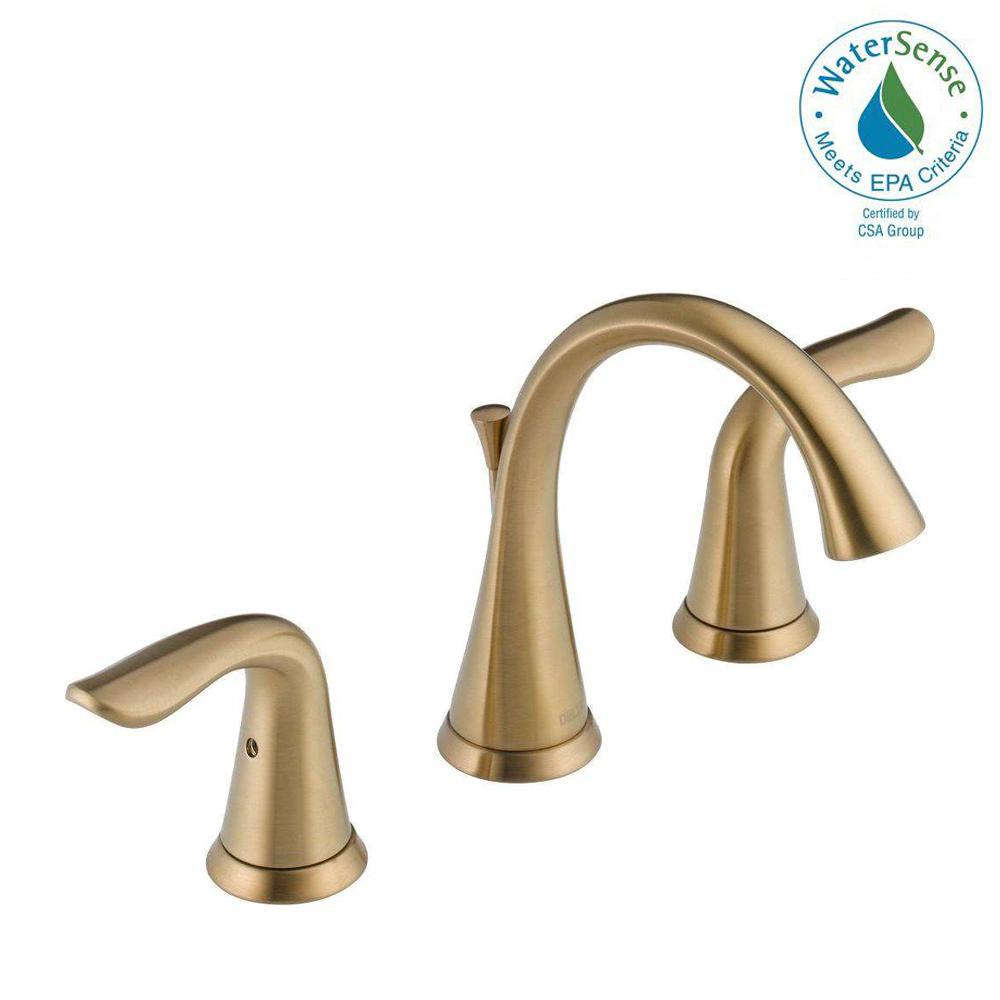 Delta Lahara 8 In Widespread 2 Handle Bathroom Faucet With Metal