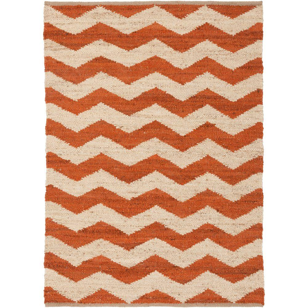 Portico Sadie Rust 9 ft. x 12 ft. Indoor Area Rug