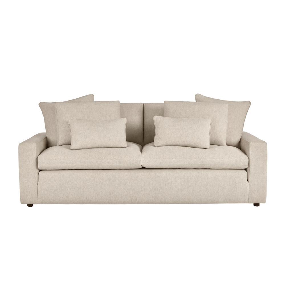 Home Decorators Collection Daymont Acuff Khaki Straight Standard Sofa 16034