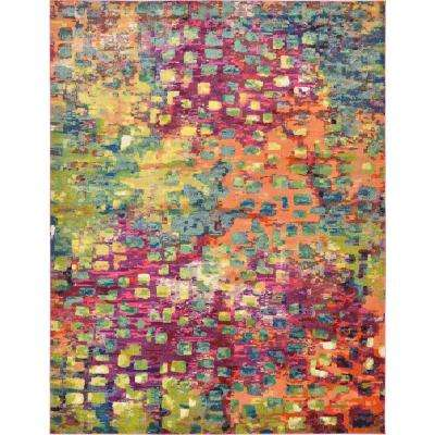 Abstract Multicolor Barcelona 10 ft. x 13 ft. Area Rug