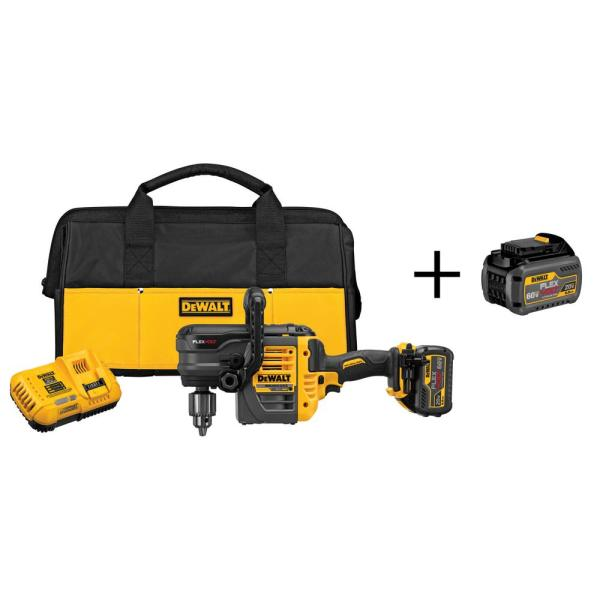 FLEXVOLT 60-Volt MAX Lithium-Ion Cordless Brushless 1/2 in. Stud and Joist Drill with Battery 2Ah and Bonus Battery 2Ah