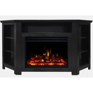 Cambridge Seville 47 in  Electric Fireplace Heater TV Stand in Dark