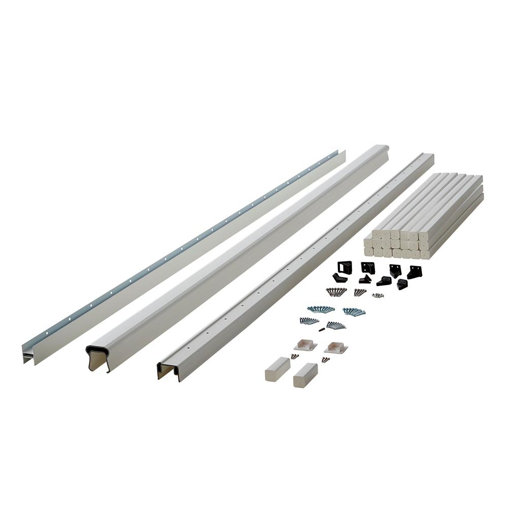 Symmetry 8 ft. Tranquil White Capped Composite Line/Stair Rail Section with