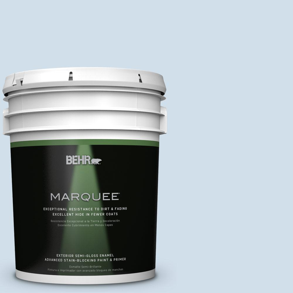 BEHR MARQUEE 5-gal. #M530-1 Ice Drop Semi-Gloss Enamel Exterior Paint