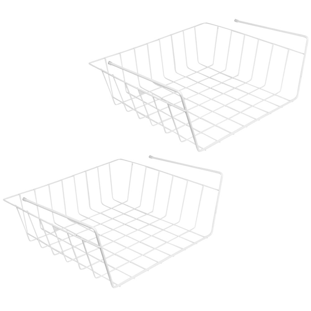 closetmaid 144 in  w x 20 in  d white steel close mesh ventilated wire shelf-37403