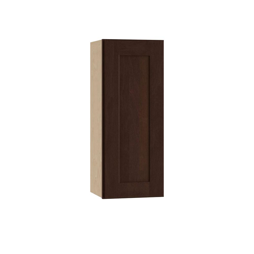 Franklin Assembled 15x30x12 in. Single Door Hinge Right Wall Kitchen Cabinet