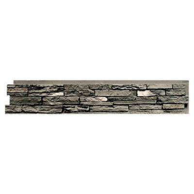 Slatestone Rundle Ridge 8.25 in. x 43 in. Faux Stone Siding Panel (8-Pack)