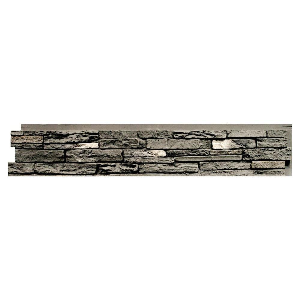 Slatestone Rundle Ridge 8.25 in. x 43 in. Faux Stone Siding Panel (8-Pack)