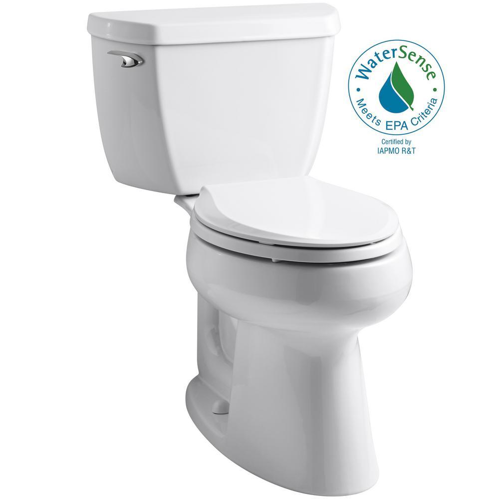 Highline Classic 2-Piece 1.0 GPF Single Flush Elongated Toilet in White