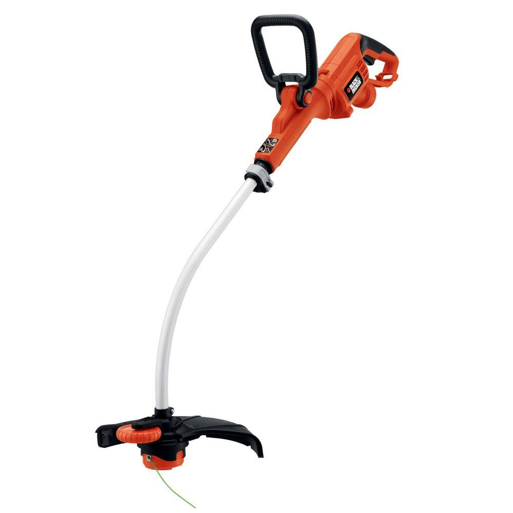 BLACK+DECKER 14 in. 7.5-Amp Corded Electric Curved Shaft High Performance Single Line 2-in-1 String Grass Trimmer/Lawn Edger