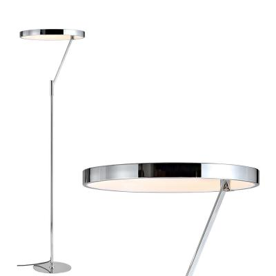 Owen 66.7 in. Chrome Integrated LED Metal Floor Lamp