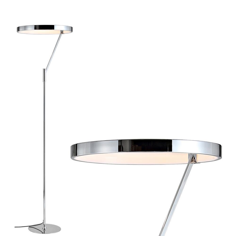 Owen 66.7 in. Chrome Integrated LED Metal Floor Lamp