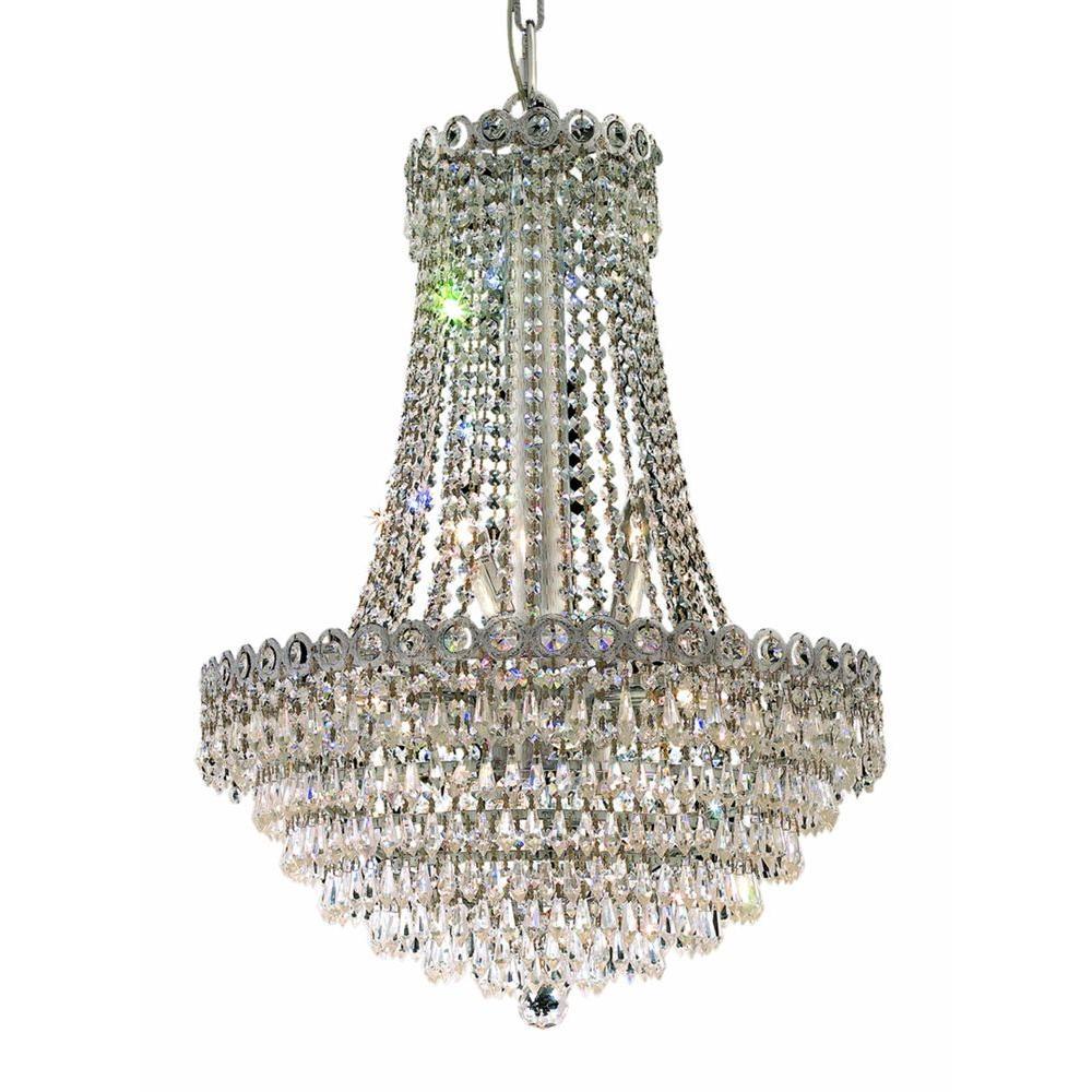Elegant Lighting 12-Light Chrome Chandelier with Crystal Clear
