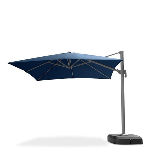 Portofino Comfort 10 ft. Resort Cantilever Patio Umbrella in Laguna Blue