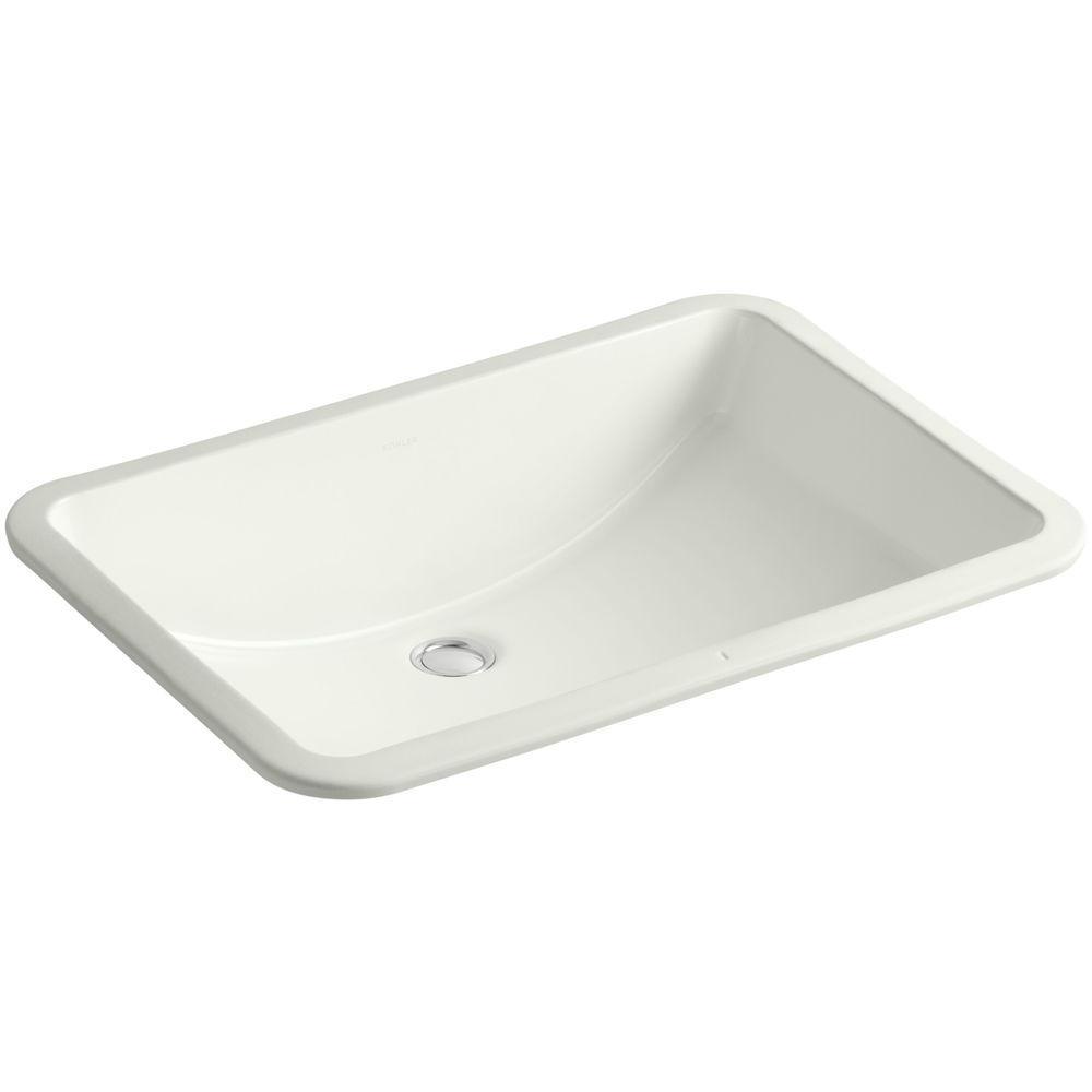 Kohler Ladena 23 1 4 Undermount Bathroom Sink In Dune With Overflow Drain K 2215 Ny The Home