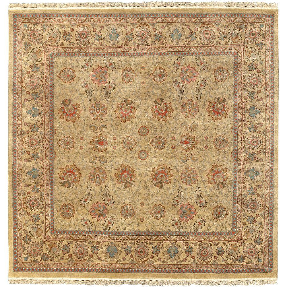 Niavaran Gold 8 ft. Square Area Rug