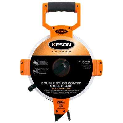 200 ft. Steel Open Reel Tape Measure, ABS Housing, SAE