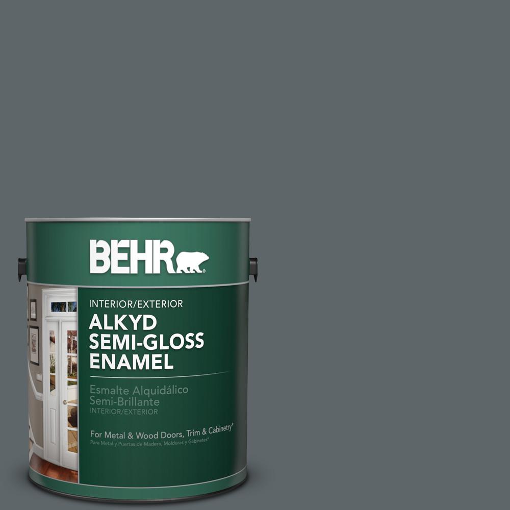 1 gal. #N450-6 Binary Star Semi-Gloss Enamel Alkyd Interior/Exterior Paint