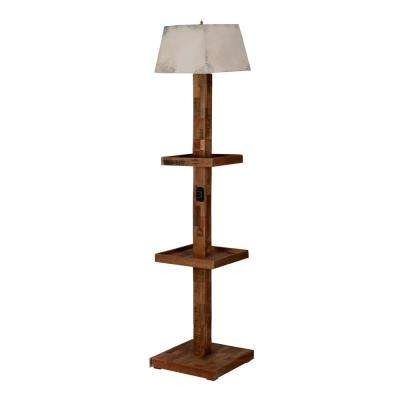 Urban 74.8 in. Industrial Natural Floor Lamp
