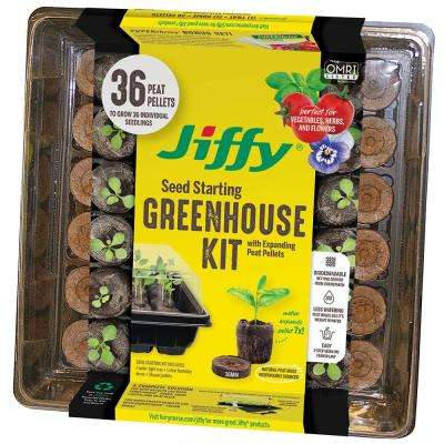 36 Peat Pellet Seed Starting Greenhouse Kit with SUPERthrive